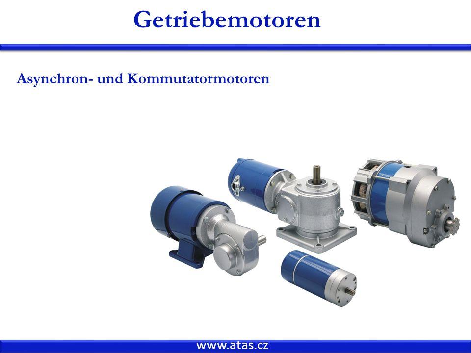 www.atas.cz Getriebemotoren Asynchron- und Kommutatormotoren