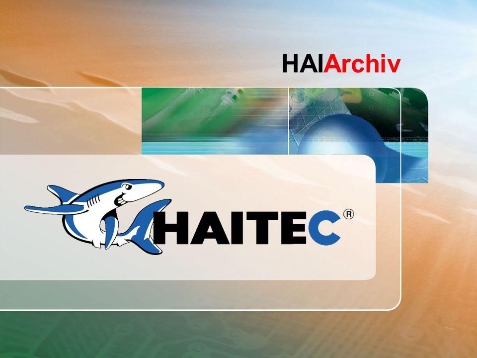 Herzlich Willkommen HAITEC Professional Software Solutions Datenarchivierung mit HAIArchiv