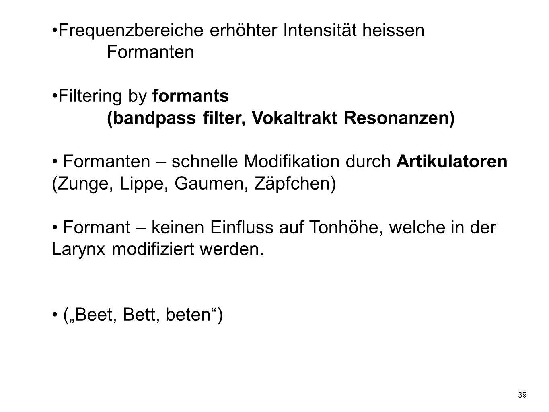 38 Formanten Im Spektrogramm Fitch (1997)