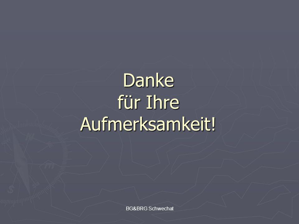 BG&BRG Schwechat Danke für Ihre Aufmerksamkeit!