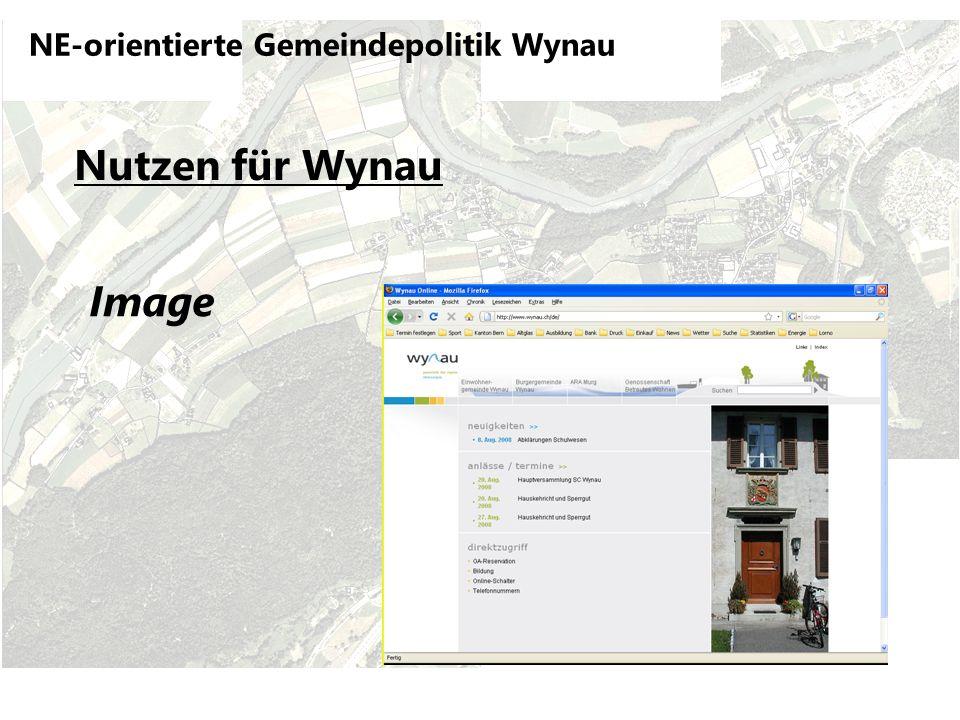 NE-orientierte Gemeindepolitik Wynau Nutzen für Wynau Image