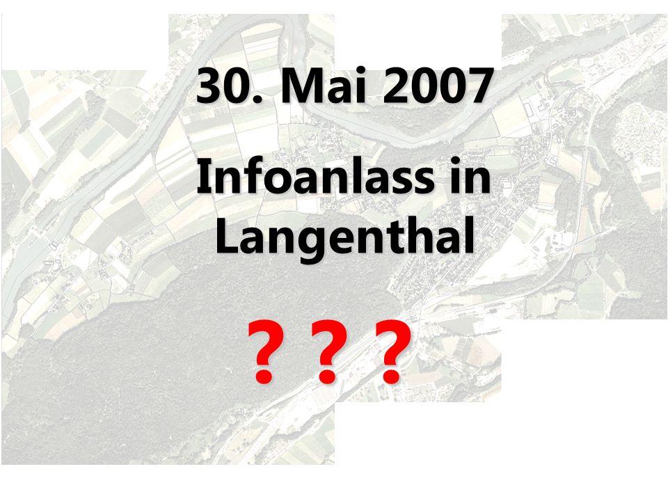 30. Mai 2007 Infoanlass in Langenthal