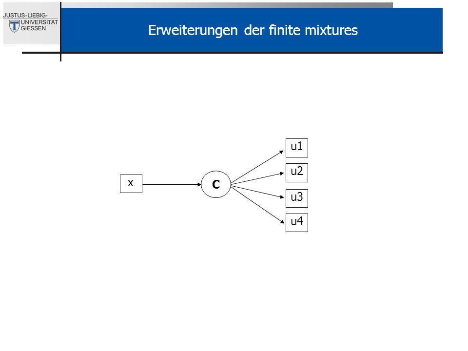 u1 u2 u3 u4 C Erweiterungen der finite mixtures x