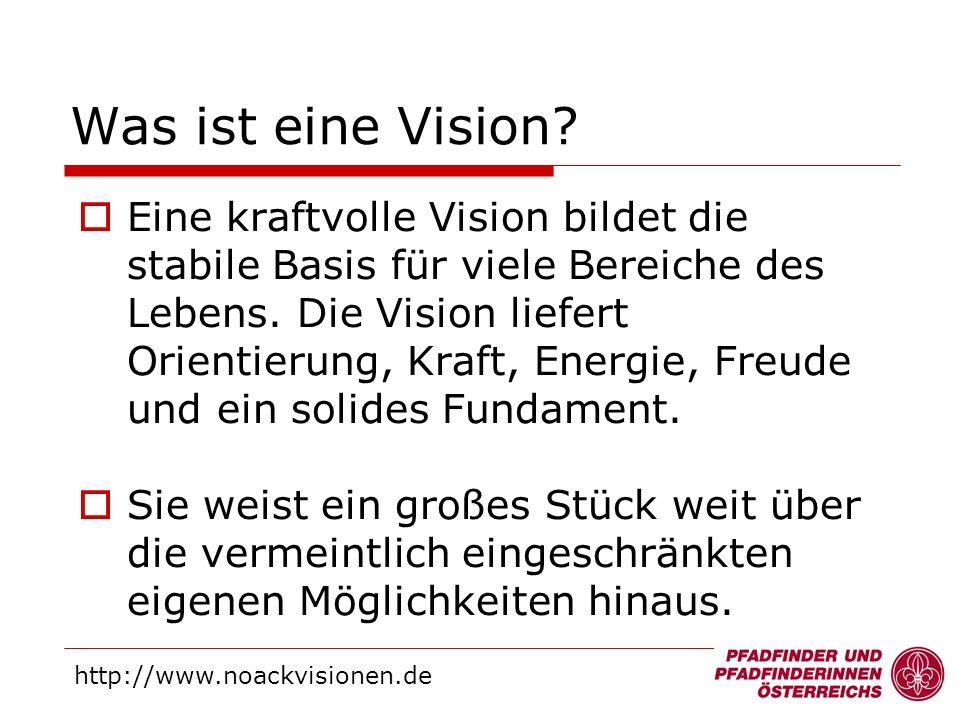 Eine kraftvolle Vision bildet die stabile Basis für viele Bereiche des Lebens. Die Vision liefert Orientierung, Kraft, Energie, Freude und ein solides