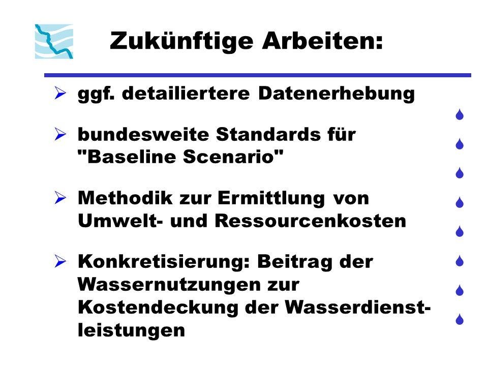 Zukünftige Arbeiten: ggf. detailiertere Datenerhebung bundesweite Standards für