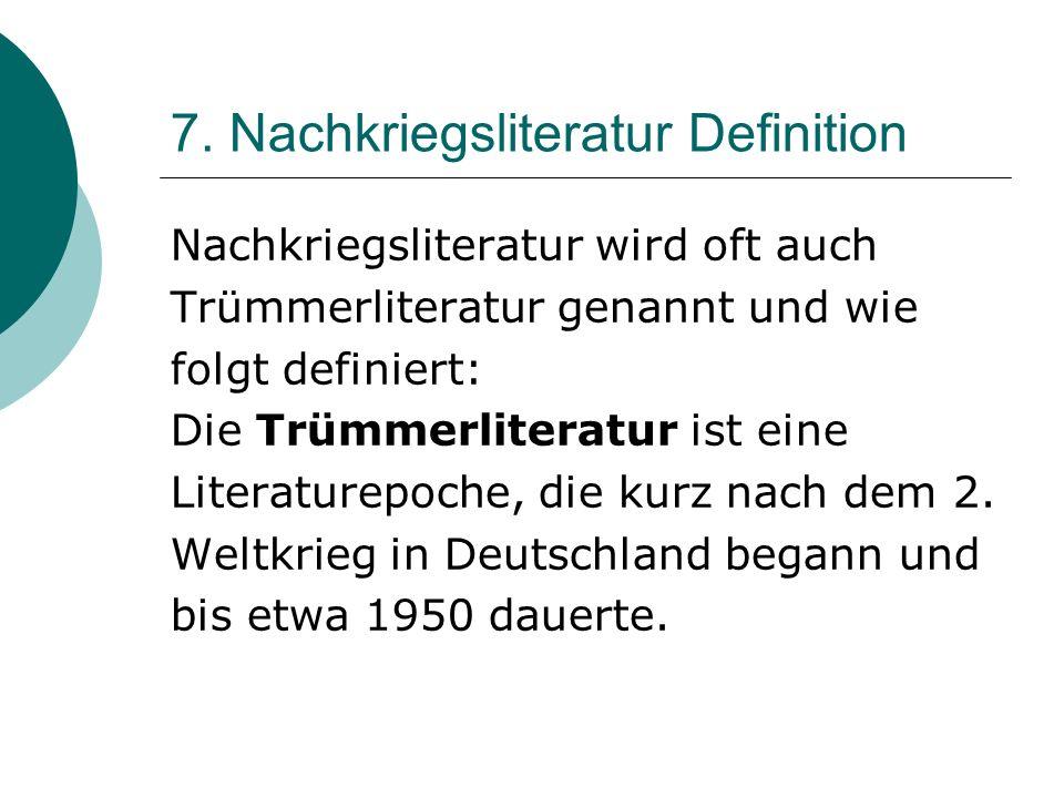 6. Bekannte Werke Das Brot Wolfgang Borchert Die Küchenuhr Wolfgang Borchert Ein bekannter Nachkriegsfilm: Die Mörder sind unter uns aus den späten 19