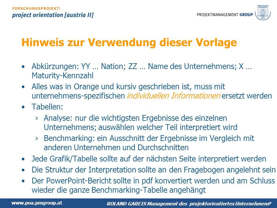 www.poa.pmgroup.at ROLAND GAREIS Management des projektorientierten Unternehmens ® 5.