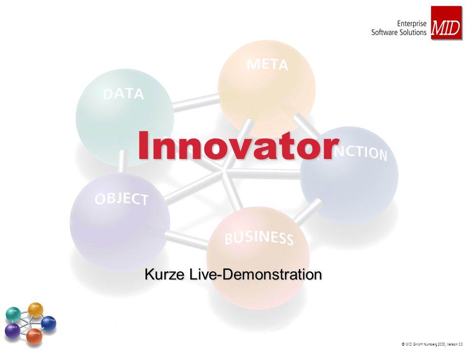 © MID GmbH Nürnberg 2003, Version 3.0 Innovator Kurze Live-Demonstration