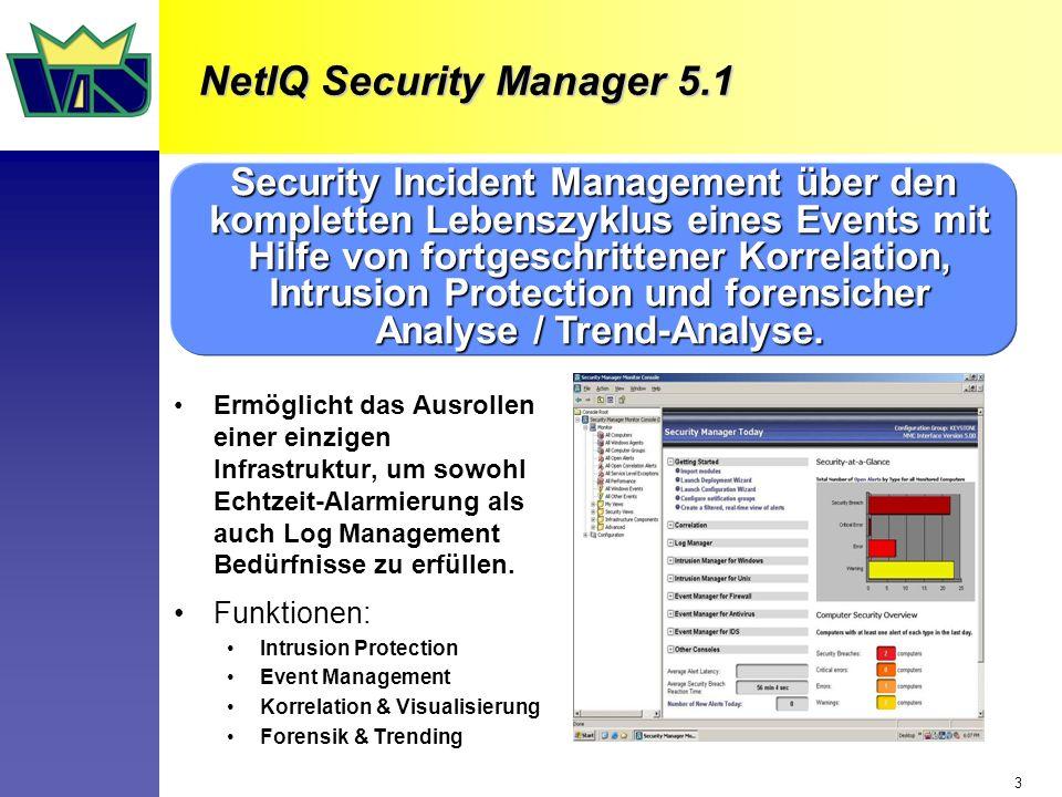 3 Ermöglicht das Ausrollen einer einzigen Infrastruktur, um sowohl Echtzeit-Alarmierung als auch Log Management Bedürfnisse zu erfüllen.