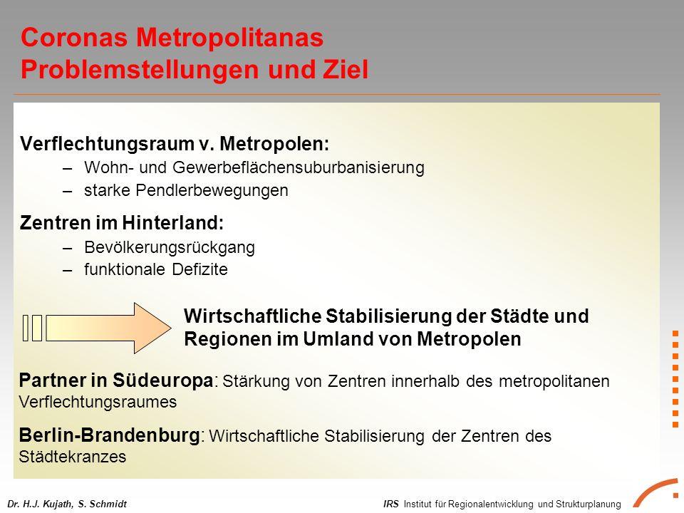 IRS Institut für Regionalentwicklung und StrukturplanungDr. H.J. Kujath, S. Schmidt Verflechtungsraum v. Metropolen: –Wohn- und Gewerbeflächensuburban