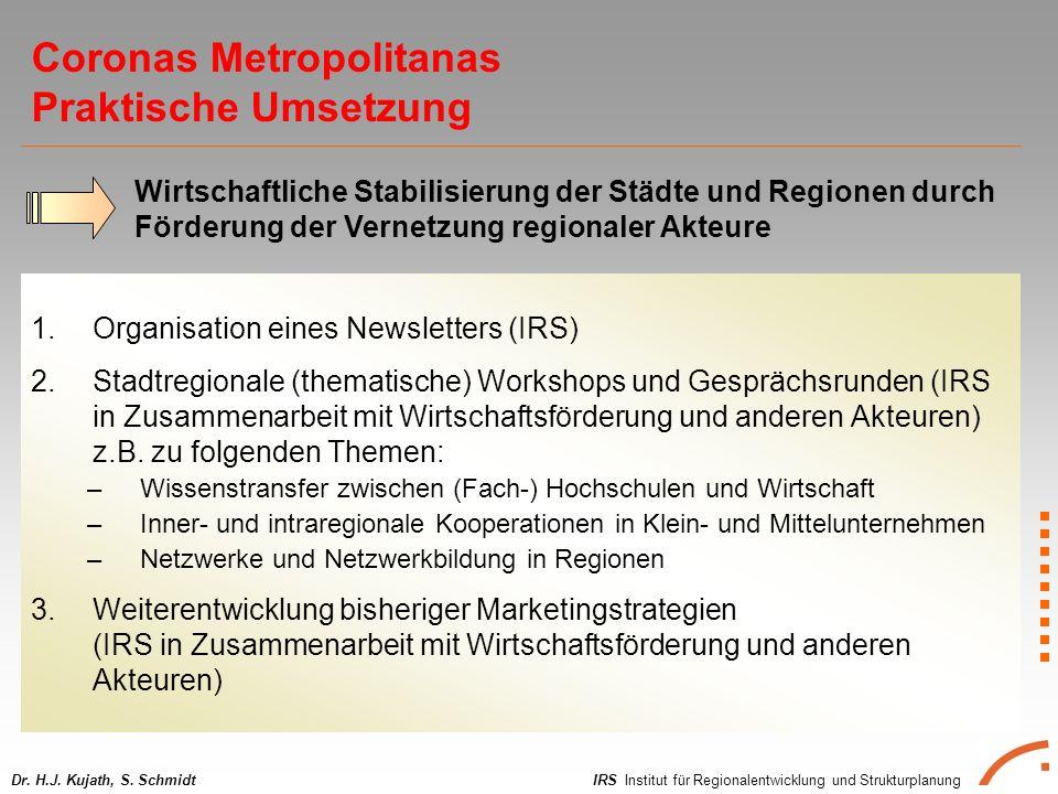 IRS Institut für Regionalentwicklung und StrukturplanungDr. H.J. Kujath, S. Schmidt 1.Organisation eines Newsletters (IRS) 2.Stadtregionale (thematisc