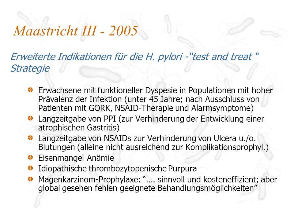 H.pylori Resistenz Natürliche Resistenz Auf wenige Wirkstoffe beschränkt (z.B.
