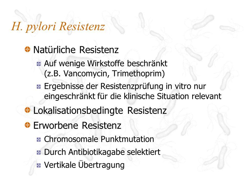 0 8 7 5 4-14 4-12 2-10 10 4 14 5-14 10-12 3 13-23 Clarithromycin-Resistenz von H.