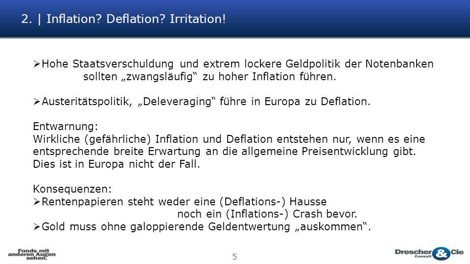 2. | Inflation. Deflation. Irritation.