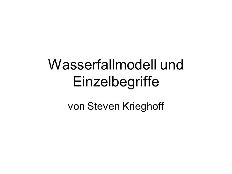 Wasserfallmodell und Einzelbegriffe von Steven Krieghoff