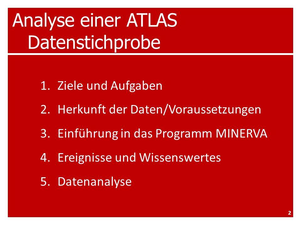 Analyse einer ATLAS Datenstichprobe – Analyse VIEL SPASS! 33