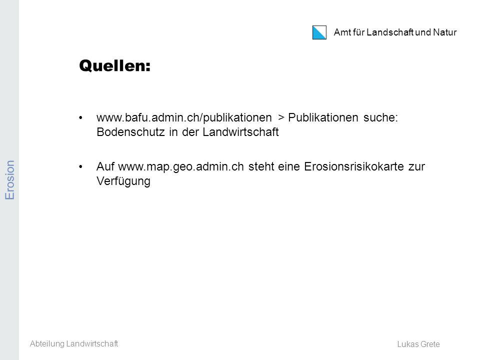 Kanton Zürich Amt für Landschaft und Natur Pflanzenschutzmittel-Anlysen 2013 PSM-Analyse Ackerbaustellenleiter-Tagung 8.
