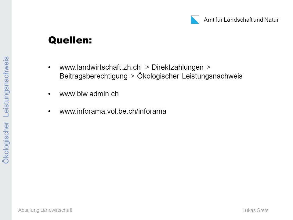 Kanton Zürich Amt für Landschaft und Natur Erosion Ackerbaustellenleiter-Tagung 8.