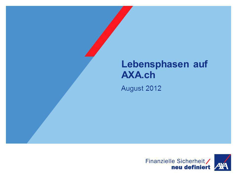 Lebensphasen auf AXA.ch August 2012