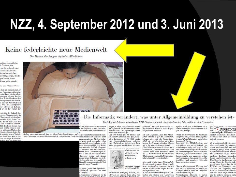 NZZ, 4. September 2012 und 3. Juni 2013