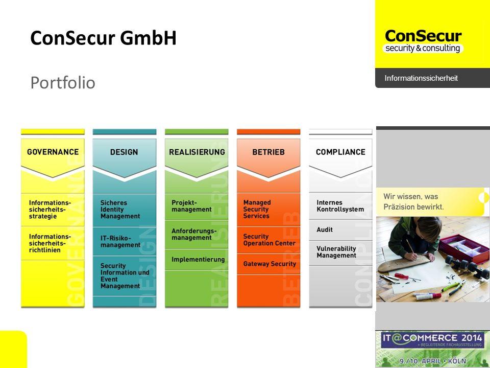 Informationssicherheit ConSecur GmbH Portfolio