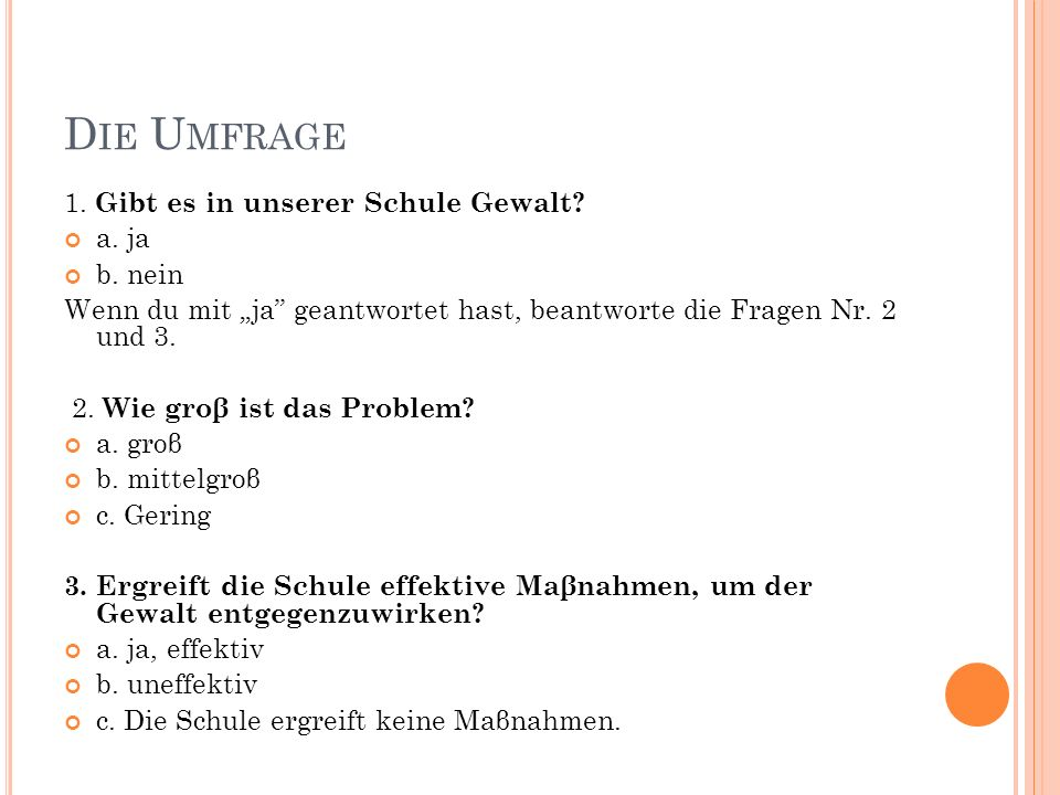 D IE U MFRAGE 4.