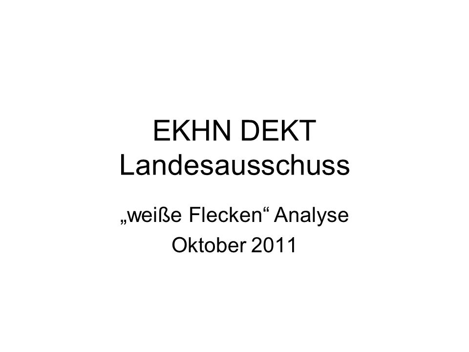 EKHN DEKT Landesausschuss weiße Flecken Analyse Oktober 2011