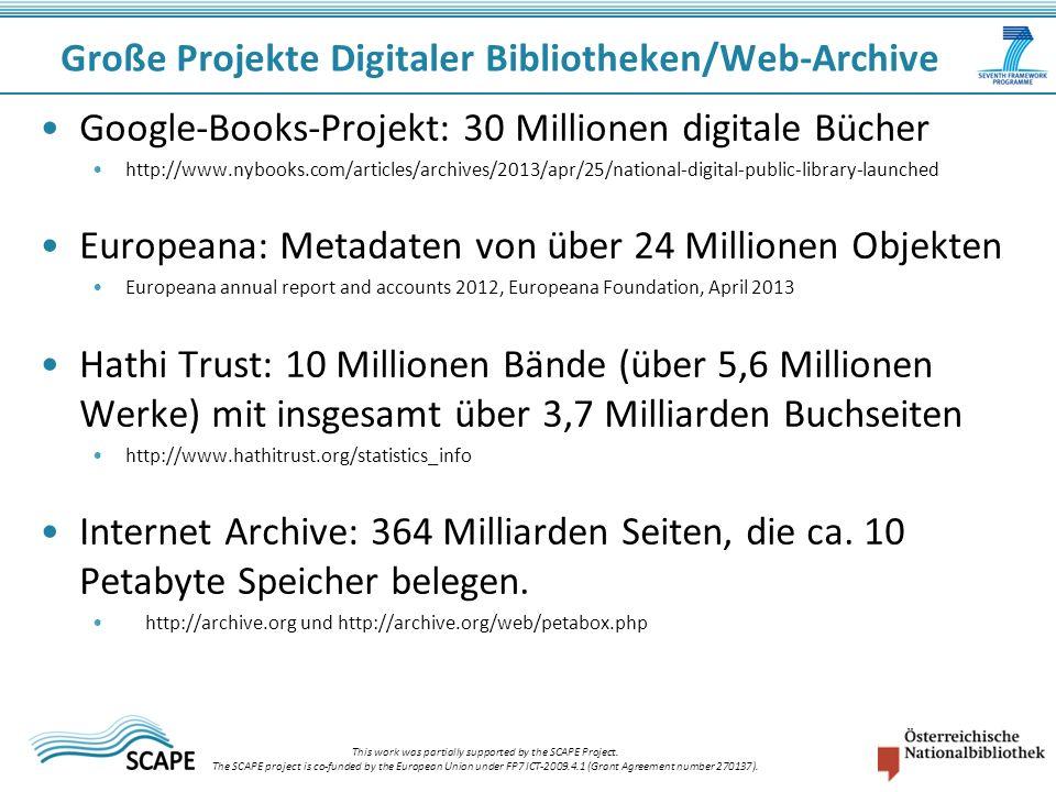Google-Books-Projekt: 30 Millionen digitale Bücher http://www.nybooks.com/articles/archives/2013/apr/25/national-digital-public-library-launched Europ