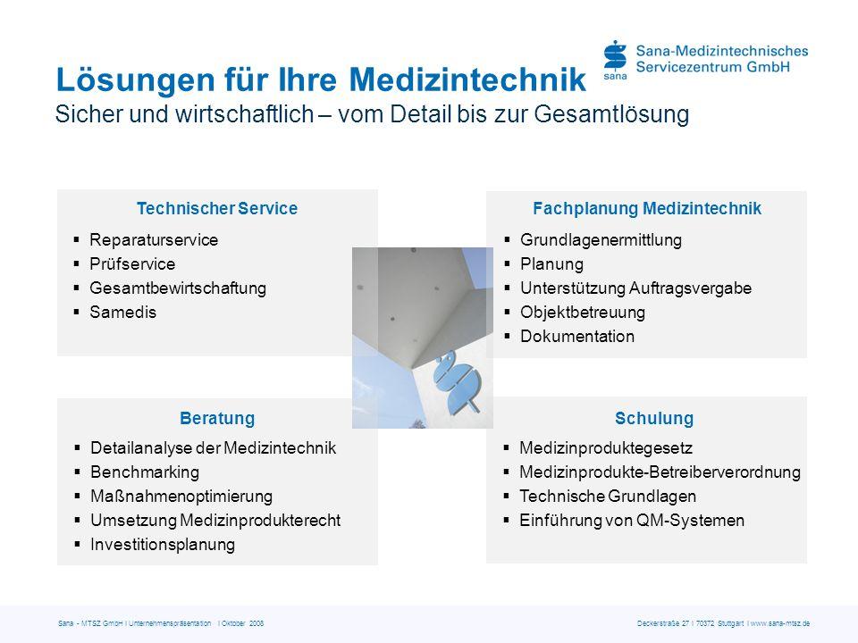 Medizintechnik fürs Leben – verantwortungsvoll, sicher, wirtschaftlich Vielen Dank Sana-Medizintechnisches Servicezentrum GmbH Deckerstraße 27 | 70372 Stuttgart Telefon 0711 870358-0 | Telefax 0711 870358-90 info@sana-mtsz.de | www.sana-mtsz.de