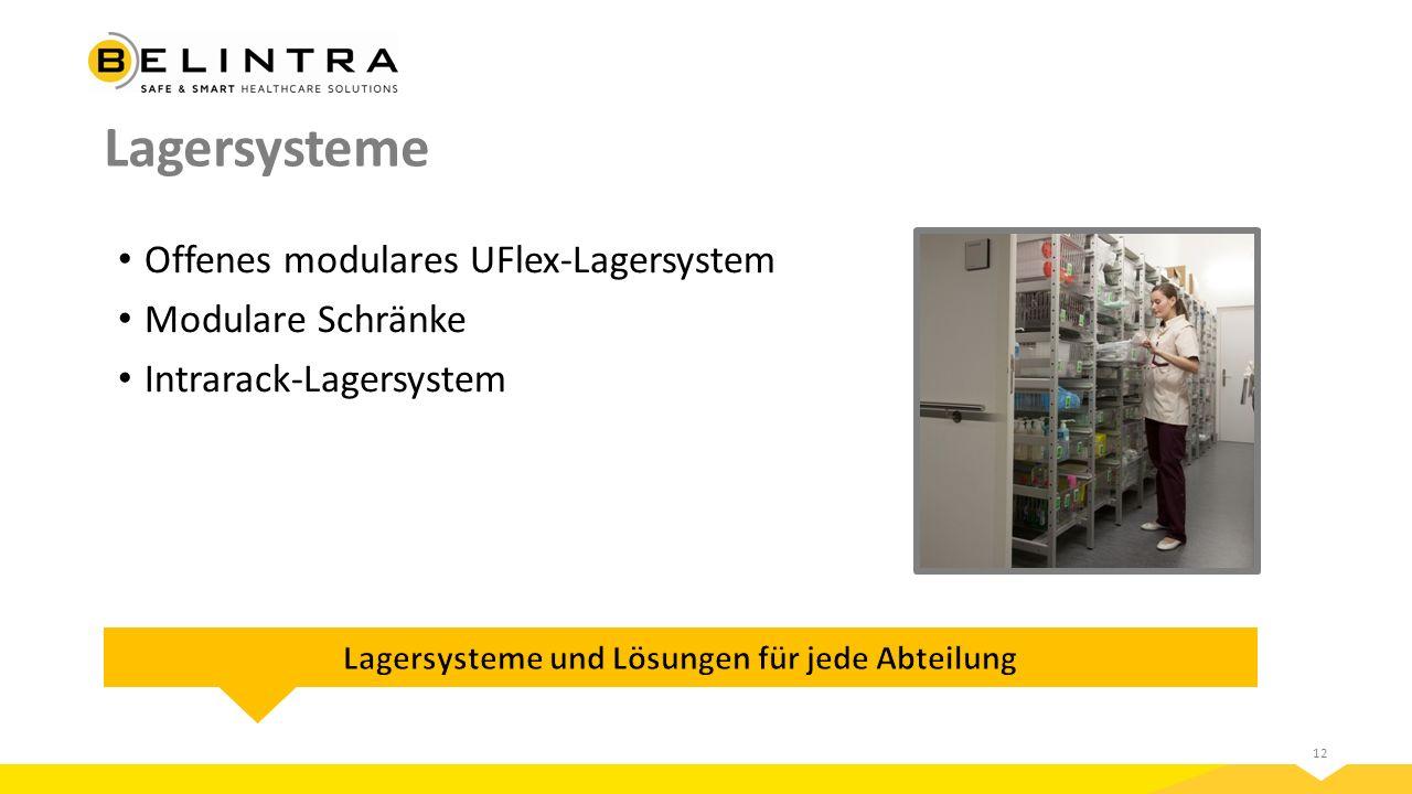 12 Lagersysteme Offenes modulares UFlex-Lagersystem Modulare Schränke Intrarack-Lagersystem