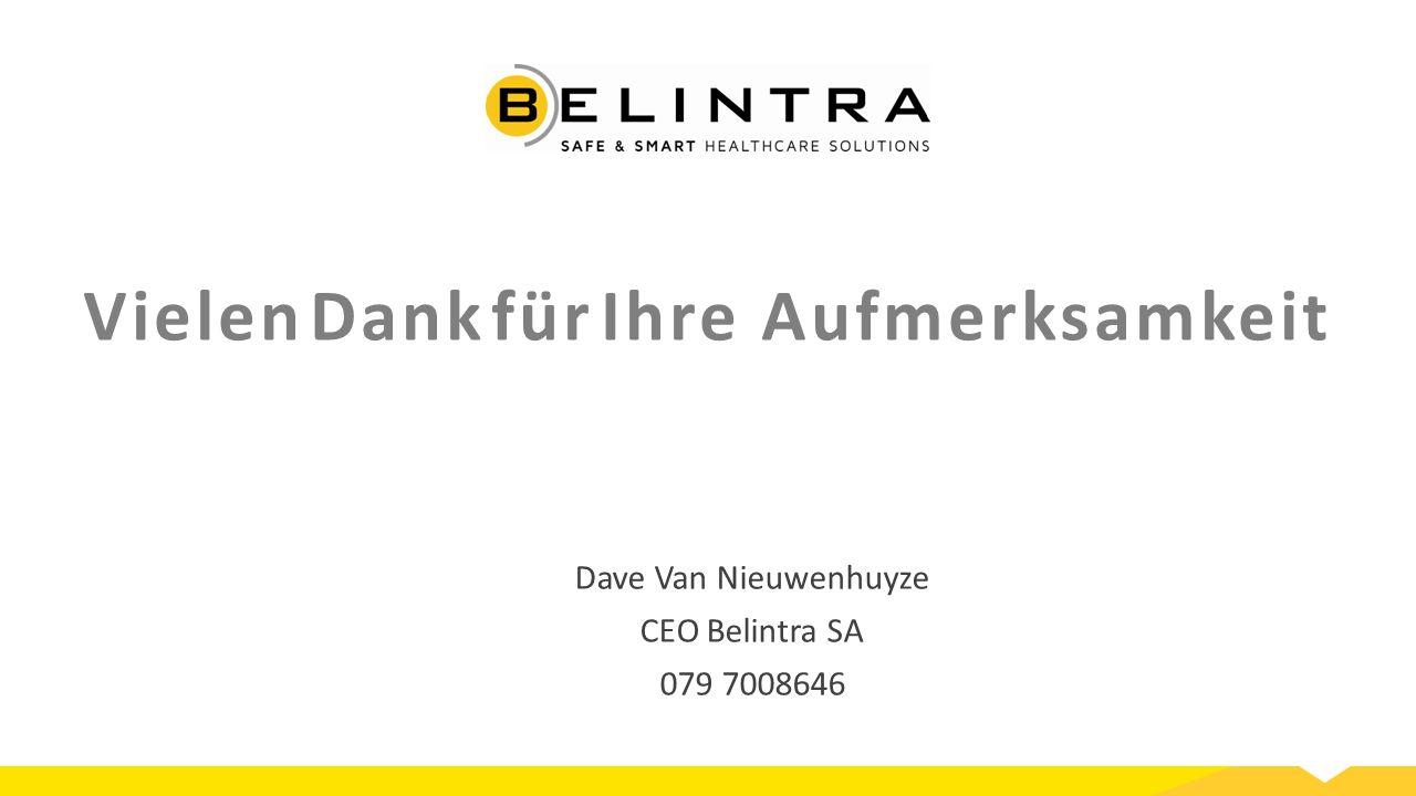 Vielen Dank für Ihre Aufmerksamkeit Dave Van Nieuwenhuyze CEO Belintra SA 079 7008646