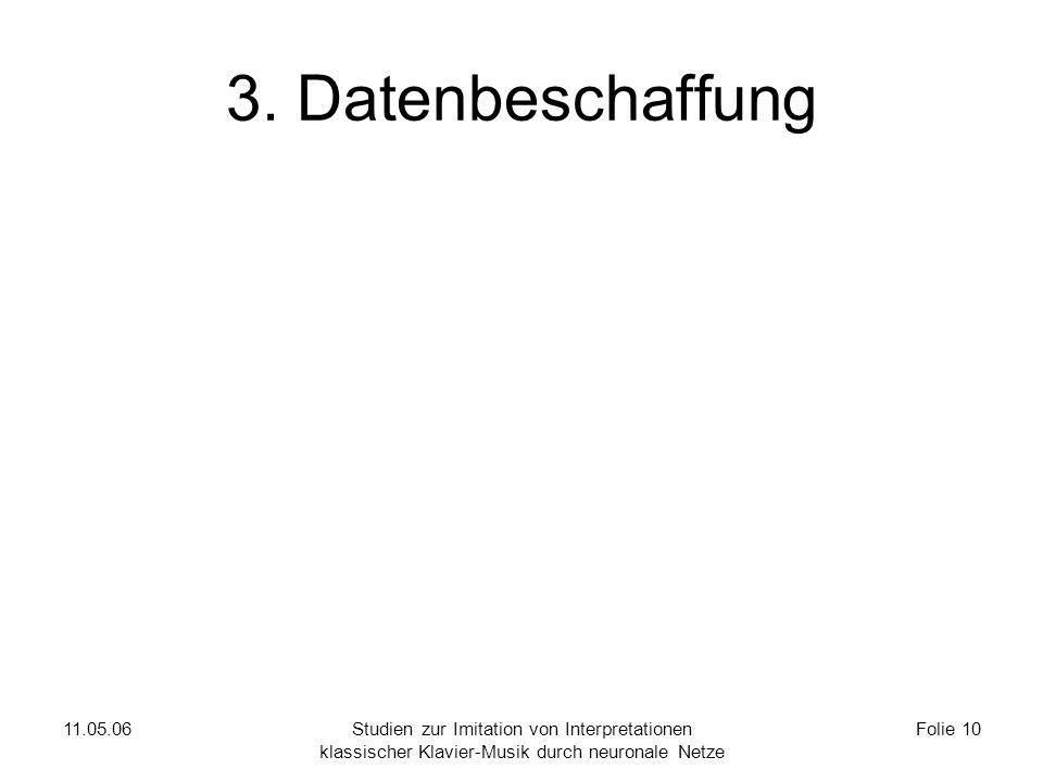 11.05.06Studien zur Imitation von Interpretationen klassischer Klavier-Musik durch neuronale Netze Folie 10 3.