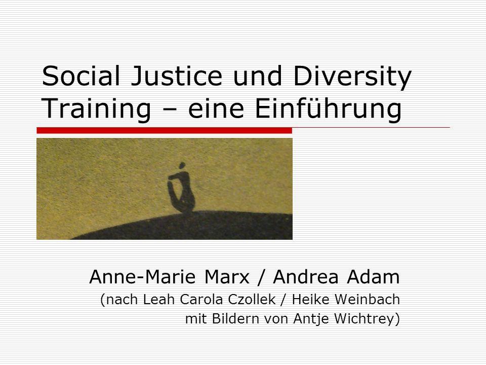 Social Justice und Diversity Training – eine Einführung Anne-Marie Marx / Andrea Adam (nach Leah Carola Czollek / Heike Weinbach mit Bildern von Antje Wichtrey)