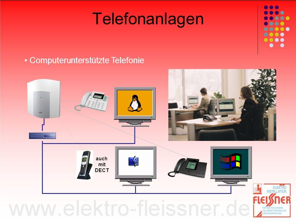 Telefonanlagen Computerunterstützte Telefonie auch mit DECT