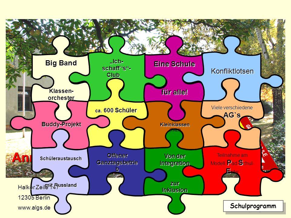 Schulanfangsphase Integration Hortkonzept Talente fördern Talente fördern Schulprogramm Pädagogische Schulentwicklung Medienkonzept Zusammenleben in der Schule in der Schule Elternarbeit Förderung