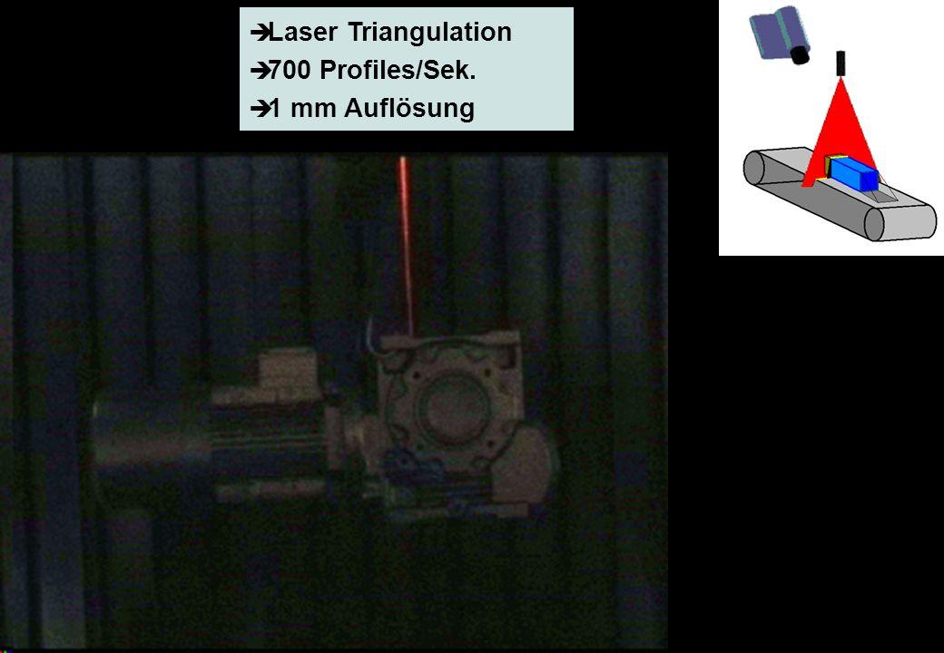Profactor Research Report, page 6 © PROFACTOR, 2002 Laser Triangulation 700 Profiles/Sek. 1 mm Auflösung