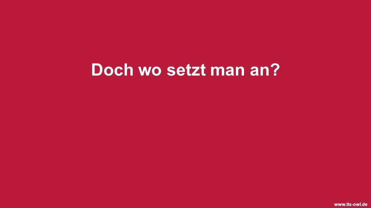 www.its-owl.de Doch wo setzt man an?