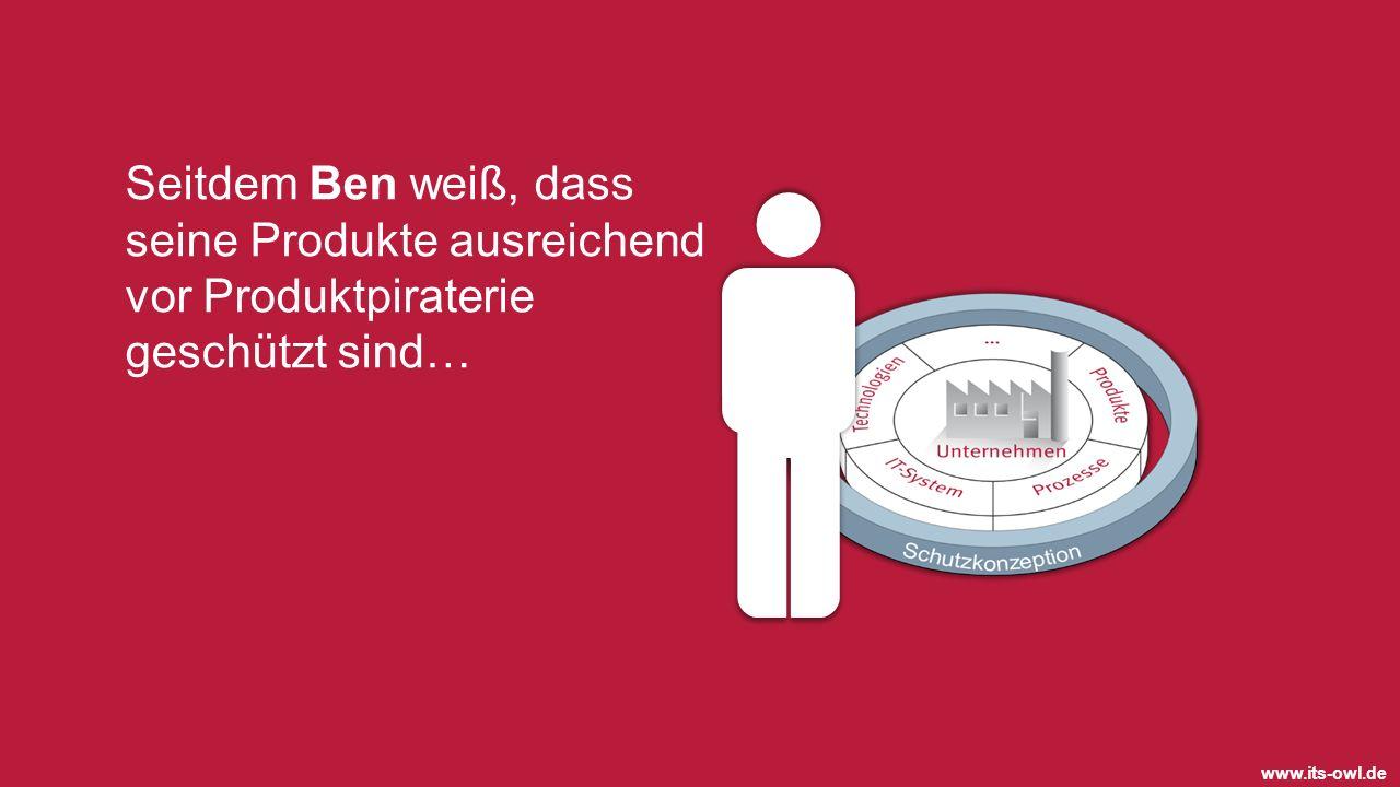 www.its-owl.de Seitdem Ben weiß, dass seine Produkte ausreichend vor Produktpiraterie geschützt sind…