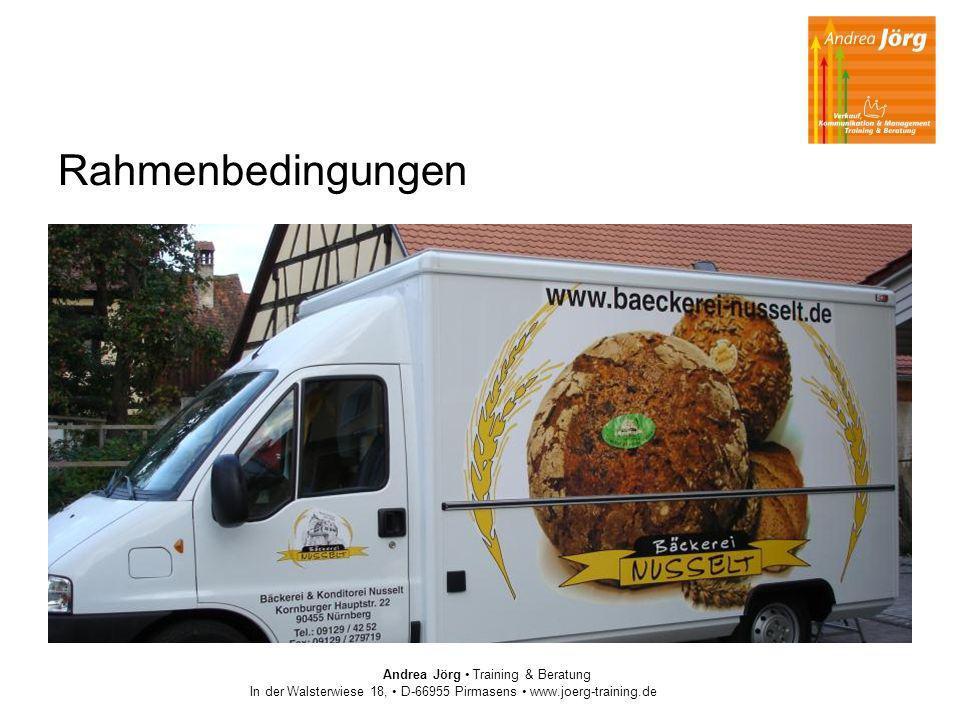 Rahmenbedingungen Andrea Jörg Training & Beratung In der Walsterwiese 18, D-66955 Pirmasens www.joerg-training.de
