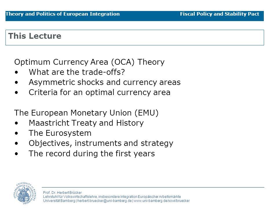 Prof. Dr. Herbert Brücker Lehrstuhl für Volkswirtschaftslehre, insbesondere Integration Europäischer Arbeitsmärkte Universität Bamberg   herbert.bruec