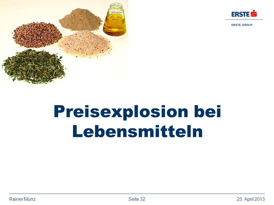 Seite 3225. April 2013Rainer Münz Preisexplosion bei Lebensmitteln