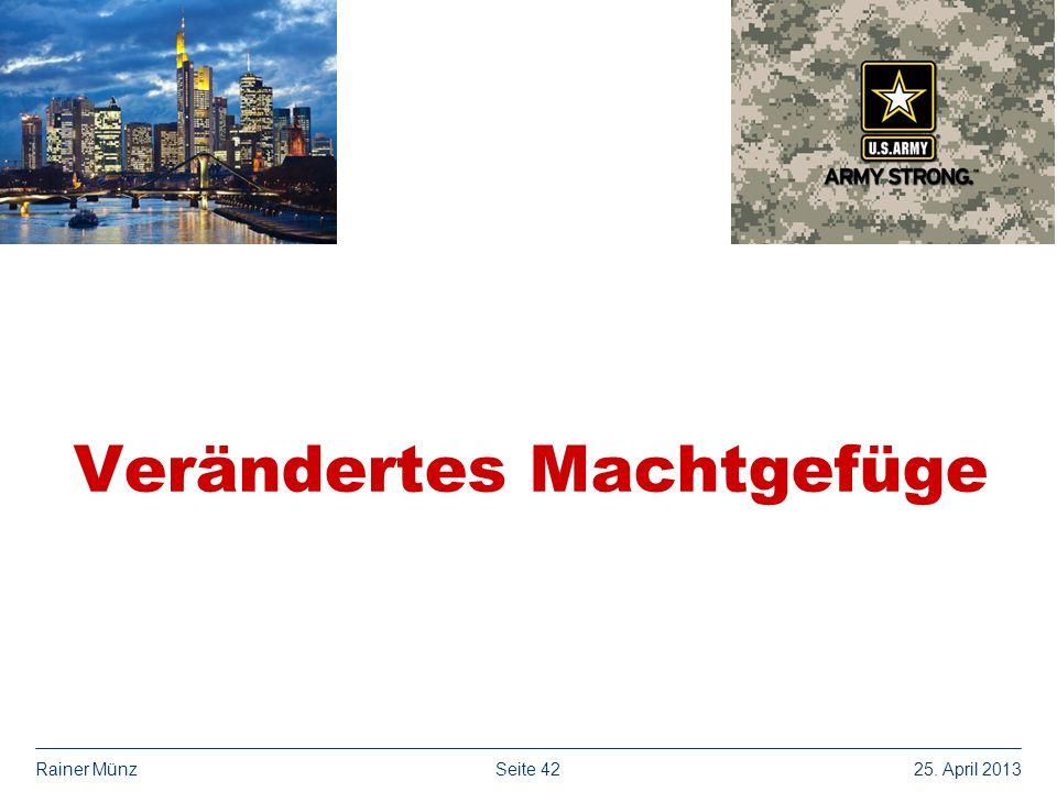 Seite 4225. April 2013Rainer Münz Verändertes Machtgefüge