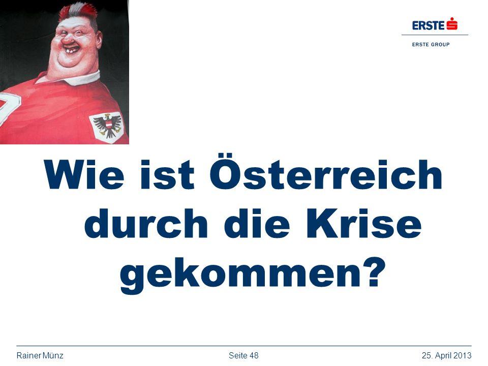 Seite 4825. April 2013Rainer Münz Wie ist Österreich durch die Krise gekommen?