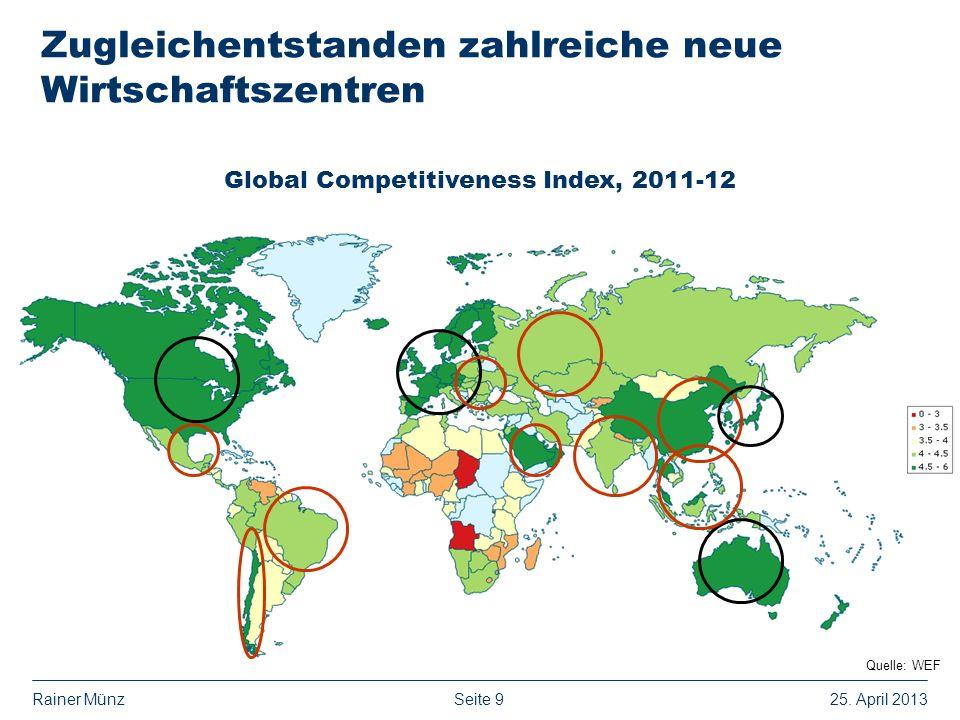 Seite 925. April 2013Rainer Münz Zugleichentstanden zahlreiche neue Wirtschaftszentren Global Competitiveness Index, 2011-12 Quelle: WEF