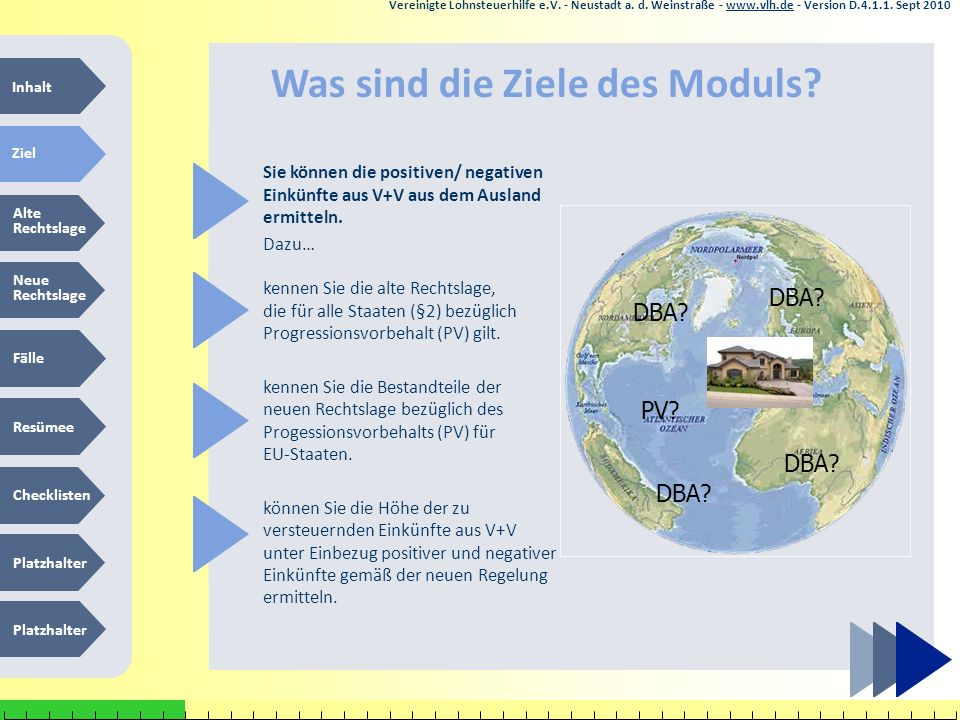 13.05.201238 Dr. P. Blumschein: Instructional Design - a Future Perspective for Education Vereinigte Lohnsteuerhilfe e.V. - Neustadt a. d. Weinstraße