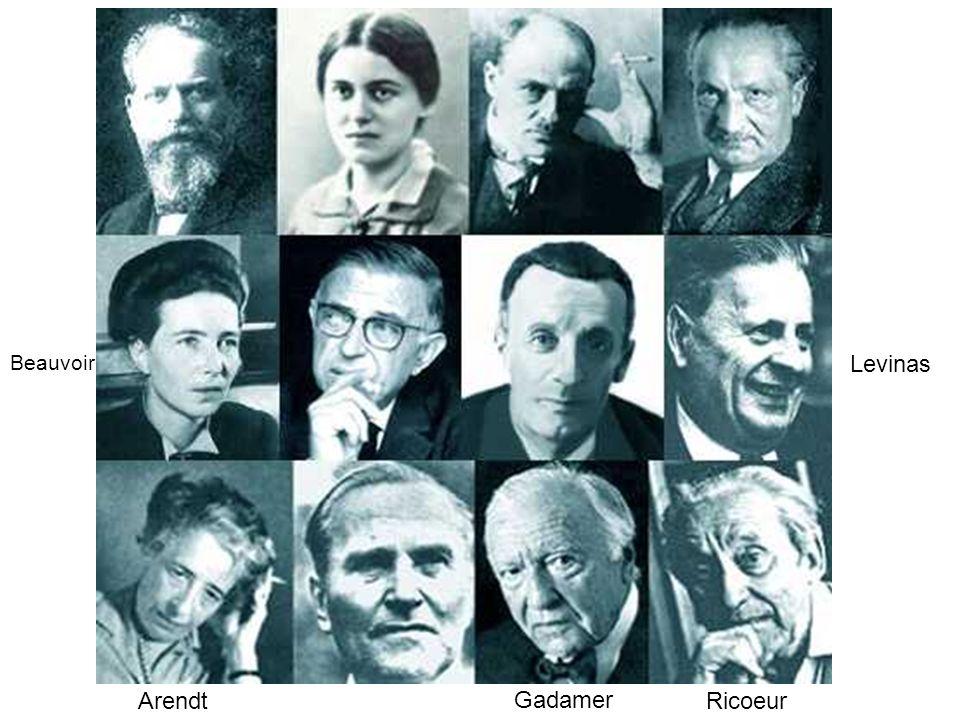 Gadamer Levinas Arendt Beauvoir Ricoeur