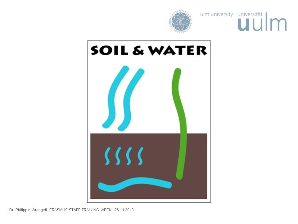 ERASMUS STAFF TRAINING WEEK | 26.11.2013 Seite 2 ERASMUS Intensive Programme IP Soil & Water - How was the idea born.