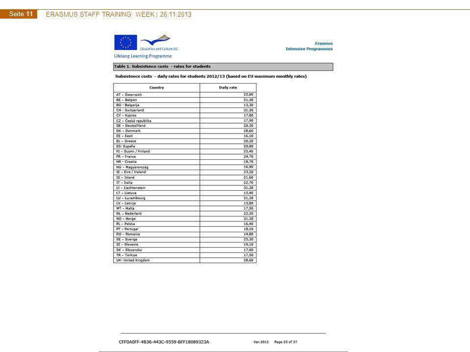 ERASMUS STAFF TRAINING WEEK   26.11.2013 Seite 11