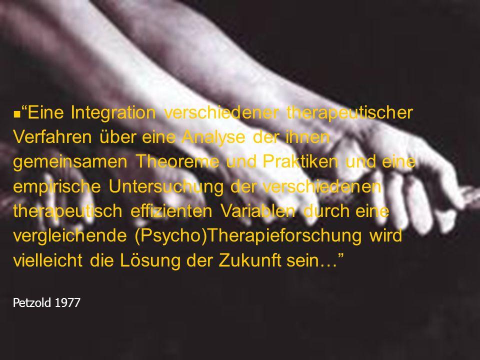 Eine Integration verschiedener therapeutischer Verfahren über eine Analyse der ihnen gemeinsamen Theoreme und Praktiken und eine empirische Untersuchu
