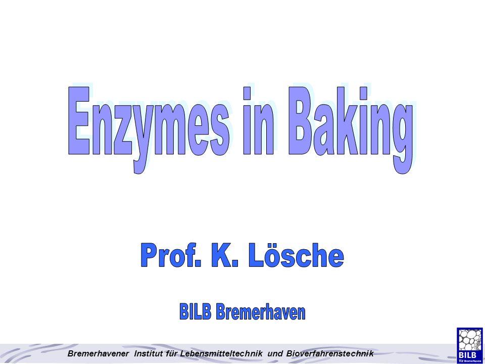 Bremerhavener Institut für Lebensmitteltechnik und Bioverfahrenstechnik Use of dual specificity Lipase in Wholemeal pan bread, straight dough process 60% wholemeal flour, 40% white (T550) flour, Xylanase/Amylase included 0.12% 0.24% 30 ppm DATEM DATEM Lipase